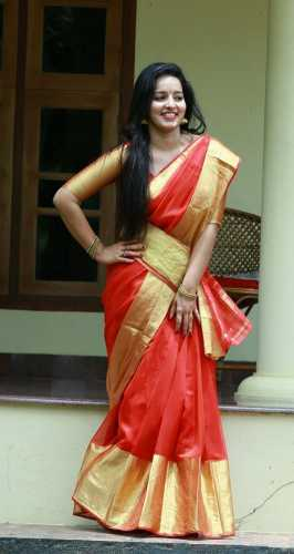 Malayalam Actress in Red Saree - Unseen Exclusive Photos