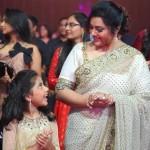 Actress Meena with daughter Nainika