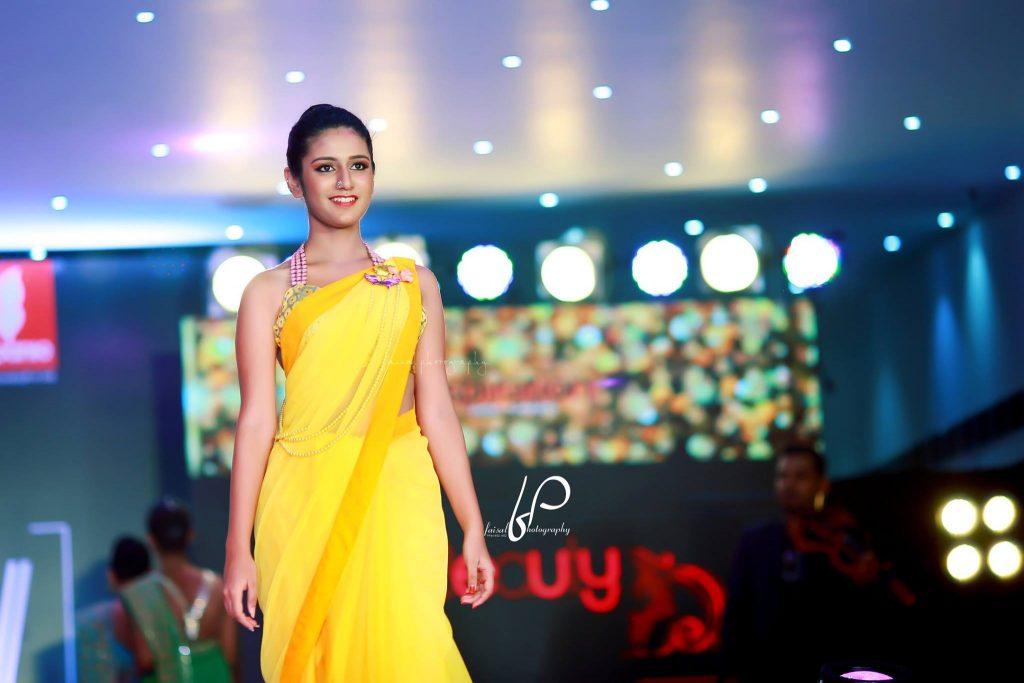 Priya Prakash Warrier saree
