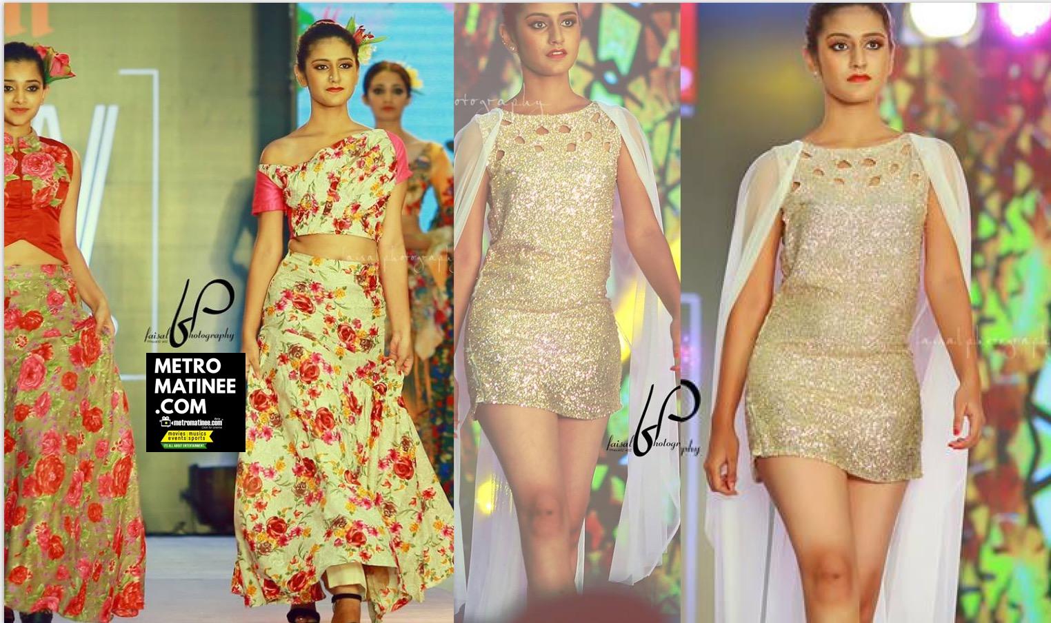 Priya Prakash Warrier Oru Adaar Love heroine Walks at Espanio Events Fashions Show